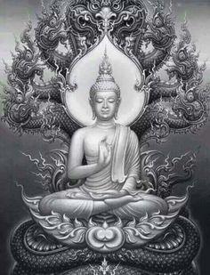 Buddha Tattoo Asian art style