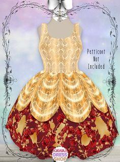 Tinkerbell Outfit, Beauty And The Beast Dress, Kawaii Dress, Belle Dress, Run Disney, Disney Dresses, House Dress, Lolita Dress, Knee Length Dresses