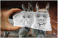 Pencil vs Reality - Where Do You Draw The Line? Incredible Optical Illusions By Ben Heine Pencil Camera, Camera Art, Pencil Art, Camera Shots, Creative Pencil Drawings, Creative Artwork, Creative Portraits, Amazing Photography, Art Photography