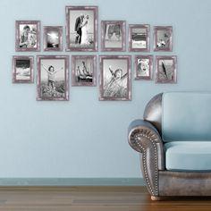 15er set bilderrahmen schwarz modern massivholz gr en 10x10 10x15 13x18 20x20 20x30 cm. Black Bedroom Furniture Sets. Home Design Ideas
