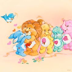 Care Bear Cousins: Swift Heart Rabbit, Brave Heart Lion, Treat Heart Pig, Gentle Heart Lamb, and Lotsa Heart Elephant