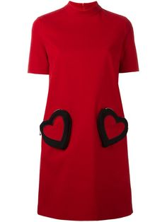 Love Moschino heart pocket shift dress