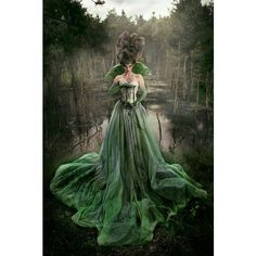 emerald green lace gown ❤ liked on Polyvore featuring dresses, gowns, green lace gown, green color dress, lace dress, lace evening dresses and green lace dress