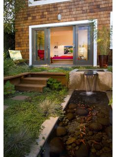 Small Backyard Landscaping With Fish Pond Design, Pictures, Remodel, Decor and Ideas Pond Landscaping, Ponds Backyard, Backyard Waterfalls, Modern Backyard, Backyard Ideas, Garden Ponds, Backyard Designs, Large Backyard, Patio Ideas