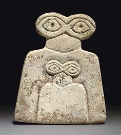 worldofmesopotamia:    Syrian eye idol,Tell brak region.