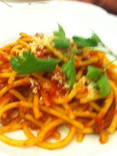 Tasty pasta in Italy