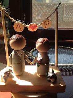 DIY polymer clay wedding cake topper #wedding #rusticwedding #polymerclay #caketopper