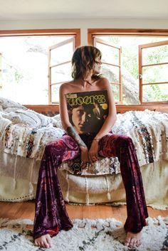 ☮ American Hippie Bohéme Boho Style ☮ Velvet Palazzo Pants