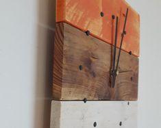 Reloj de pared reloj de pared de madera por SpudsCreativeAsylum