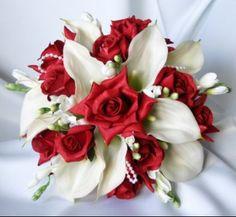 bouquet rouge blanc