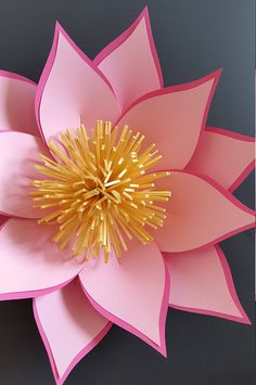 Paper flower template paper flower pattern ONLY. DIY paper