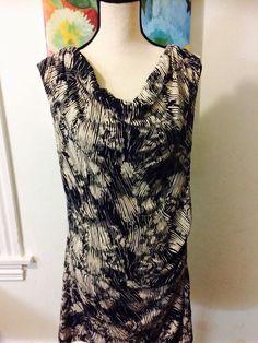 Ann Taylor Loft Dress Tunic Large L Career Black Beige | eBay