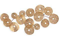 Made to order Copper and brass handycraft . Modern Wall Sculptures, Metal Wall Sculpture, Sculpture Art, Metal Wall Decor, Hanging Wall Art, Glass Gem Corn, Cardboard Sculpture, Wall Installation, Traditional Furniture