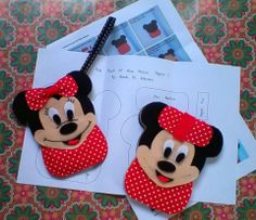 Diy Kit : Minie Mouse Felt Mobile Pouch