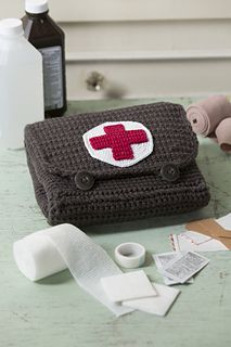 Red Heart Cares Crochet First Aid Kit by Nancy Anderson - Free Crochet Pattern