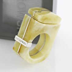 Chic : Ring, Silver&Amber. OSTROWSKI-DESIGN 2014.