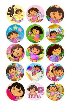 24 X Dora THE Explorer Edible Icing Cupcake Toppers PRE CUT | eBay