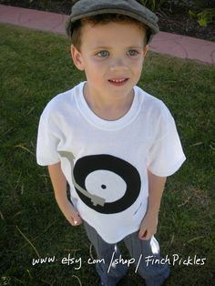 Kids Clothes Retro Record player TShirt by FinchPickles on Etsy, $23.00