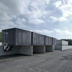 Pivka, Slovenia, is home to this metal-recycling plant by the architects at Dekleva Gregoric Arhitekti. Functioning as a site to… Recycling Plant, Recycling Center, Industrial Architecture, Modern Architecture, Big Building, Building Ideas, Recycling Facility, Timber Cladding, Small Buildings