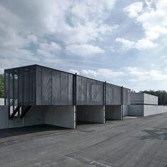 Slovenian studio Dekleva Gregoric Arhitekti have completed a metal-recycling plant in Pivka, Slovenia.