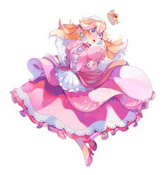 Beautiful art of Princess Peach Super Mario Princess, Mario And Princess Peach, Nintendo Princess, Super Mario Bros, Super Mario Brothers, Princess Peach Cosplay, Mario Fan Art, Peach Mario, Image Manga