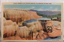 Yellowstone National Park Mammoth Hot Springs Terraces Postcard Old Vintage Card