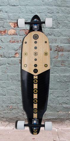 13437103791 Longboards USA - Bamboo Directional DT Xibalba Longboard - 41 inch -  Complete