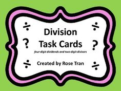 Hey, math teachers! Looking for an activity that spirals back to multi-digit division? We know that with practice our students will master any skill! Here's an activity where students will do just that- practice division using the standard algorithm and strategies you've already taught! Math Teacher, Math Classroom, Division Algorithm, Fifth Grade Math, Unit Plan, 3c, Spirals, Interactive Notebooks, Math Centers