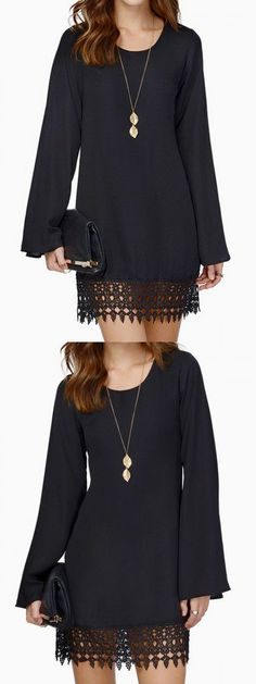 The Simple Things Black Dress! beautiful clothes #fashion