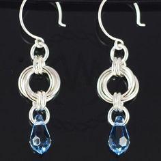 simple chainmail earrings