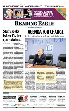 Today's front page. Dec. 27, 2016