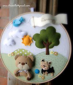 : Porta de maternidade - bastidor ursinho x york