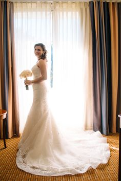 gorgeous bride in her Sophia Tolli lace wedding dress ~  we ❤ this! moncheribridals.com
