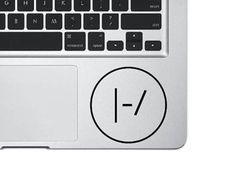 Twenty One Pilots Decal, Laptop Sticker, 21 pilot Sticker,  Laptop Decal, MacBook Decal, Vinyl Sticker