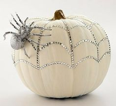 girly glitter glam pumpkin.