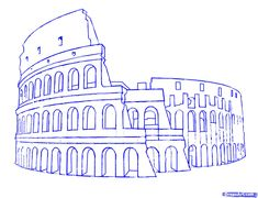 how to draw the colosseum step 7