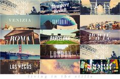 Must-Sees: Hong Kong, Newport Beach, Paris, Venice, Santorini, Mykonos, Rome, Barcelona, Monte Carlo, San Francisco, London, Las Vegas, Tokyo and New York City! #postcard #travel