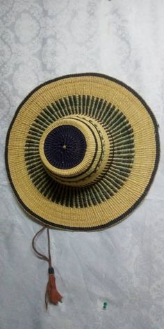 Short crown hat/Holiday straw hat//Hat accessories/African straw hat/Sun hat/woven straw hat/African sun hat/black chunky hat Winter Bedroom Decor, African Beads Necklace, Hat Shop, Market Bag, Baskets On Wall, Summer Hats, Sun Hats, Me Too Shoes, Hand Weaving