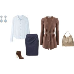 A fashion look from February 2014 featuring brown top, shirt blouse and petticoat skirt. Browse and shop related looks.