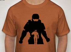 Halo: Master Chief Silhouette T-Shirt by DJsDecals on Etsy