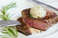 How to Make Freshly Whipped Herb Butter! Super easy way to make your steak fancy. #steak #recipe #butter