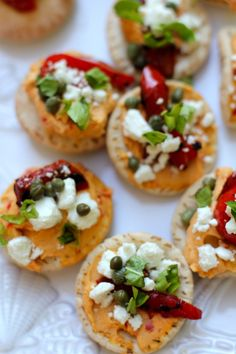 Sabra Hummus and Goat Cheese Mini Pitas. I don't know if I could do goat cheese, but they're still cute.