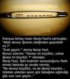 Necip Fazıl Kısakürek Meaningful Sentences, Good Sentences, Meaningful Words, Islam Muslim, Allah Islam, Muhammed Sav, Islamic Quotes, Cool Words, Karma