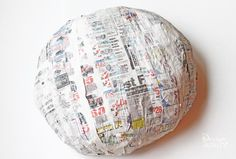paper mache a large toadstool - Design Dazzle