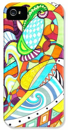 Carnival iPhone 5 Case / iPhone 5 Cover for Sale by Shawna Rowe #iPhone5 #iPhone #iPhonecase #carnival #abstract #sharpies #markerArt #whimsical #crazy