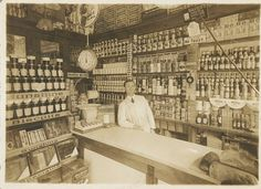 Early Grocery Store Interior fully by thebluewhaleantiques