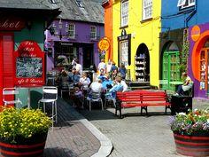 Street scene in the colorful village of Kinsale, County Cork, Ireland (by seanog).