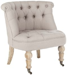 Baby Tufted Chair Taupe