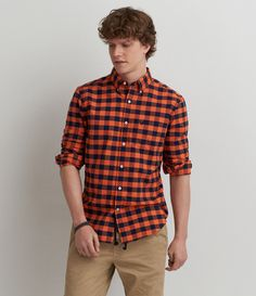 AEO Striped Button Down Shirt | Zac Senior pics | Pinterest | Cats ...
