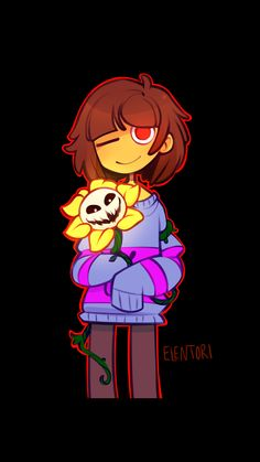 Undertale Frisk and Flowey genocide Flowey Undertale, Undertale Game, Undertale Fanart, Frisk, Corpse Party, Toby Fox, Video Game Art, Video Games, Funny Comics